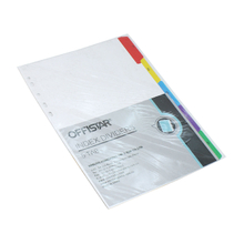 1-5 file dividers with pet tab