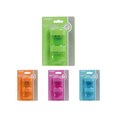 PLASTIC DOUBLE HOLES PENCIL SHARPENER