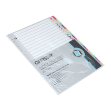 A-Z file dividers with pet tab