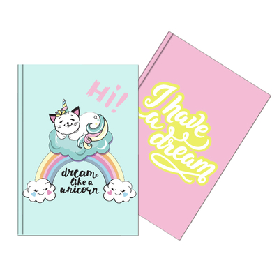 A5 Double Sided Sequin Notebook