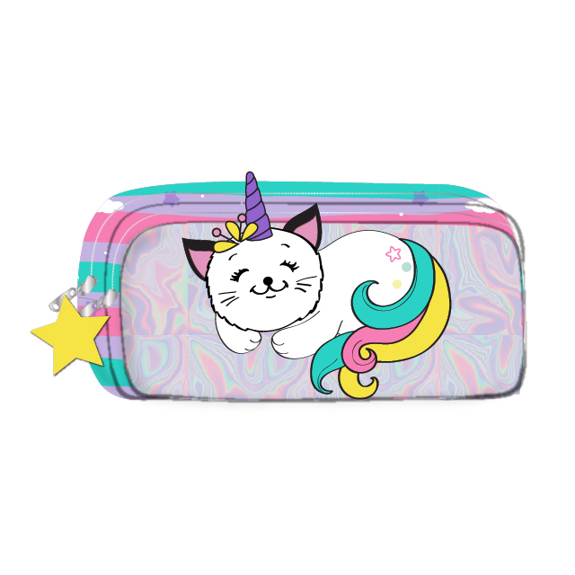Holographic Cat Pencil Case