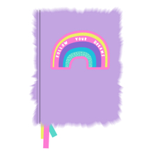 A5 Sequin Furry Notebook